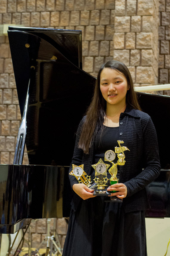 First winner of Gr 9 Piano Sonata Class  First Winner of Gr 9 List C Class